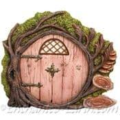 Vivid Arts - Round Woodland Fairy Door (Brown)