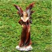 Winter Solstice Fairy - Ruby In Red - 10cm