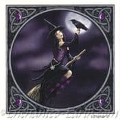 Witch & Raven Greeting Card