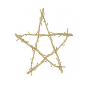Witches Gold Glitter Pentagram