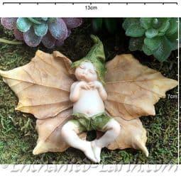 Woodland Dell Leaf Baby - Eli - 13cm.