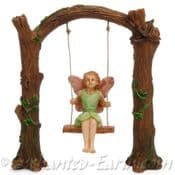 Woodland Knoll - Woodland Fairy on a Arched Swing