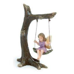 Woodland Knoll - Woodland Fairy on a Tree Swing