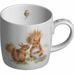 Royal Worcester -Portmeirion  Wrendale Design Mug Between Friends#Squirrel mug