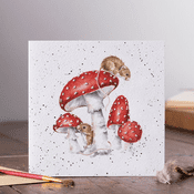 Wrendale Design - The Fairy Ring-  Mouse & Toadstool -  - Greeting Card