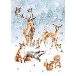 Wrendale Designs A Winter Wonderland -  A5 Advent Calendar.
