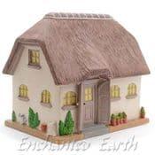 XL Porcelain Miniature Garden House - Appleby Thatched Cottage