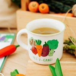 Yes -V-Gang - Vegan plant power Stoneware mug.