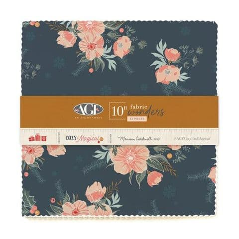 "10"" Fabric Wonders, 42 pieces - Cozy & Magical - Art Gallery Fabrics"