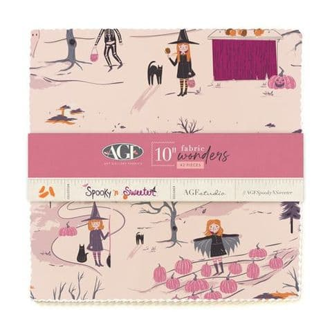 """10"""" Fabric Wonders - 42 pieces from Spooky & Sweeter - Art Gallery Fabrics"""
