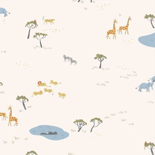 Africa Ivory - Garden of Eden - Cloud9 Fabrics