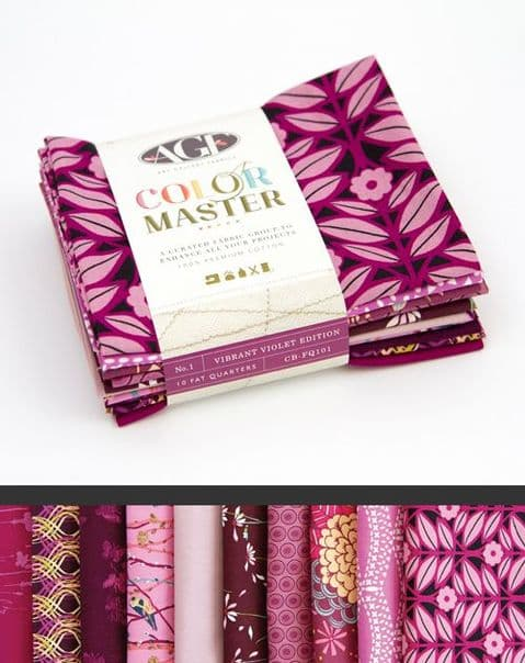 AGF Color Master- Vibrant Violet - 10 Fat Quarter Pack