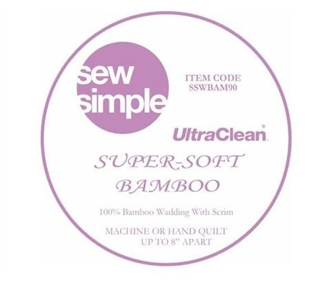 Bamboo Wadding  - Super Soft - price per 0.5m