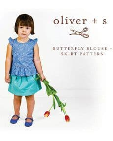Butterfly Blouse & Skirt - Large  - Oliver + S