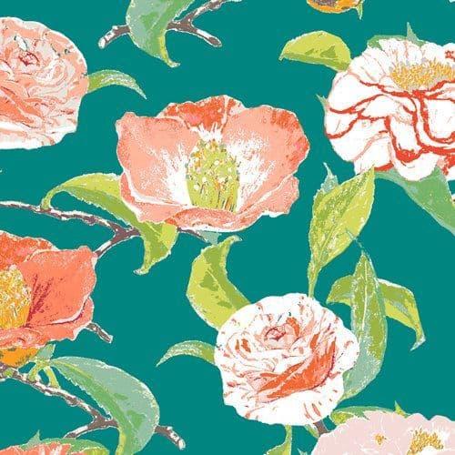 Evergreen Camellia  - Floralish - Art Gallery Fabrics