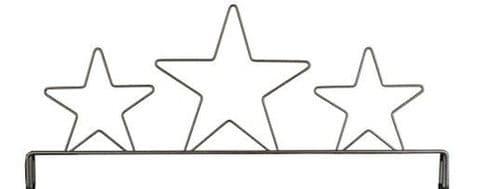 Header 3 Star Gray 12in