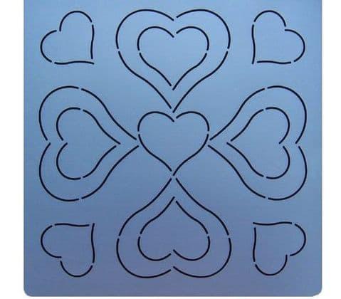 "Heart Quilting Stencil - 9.5"" (24cm)"