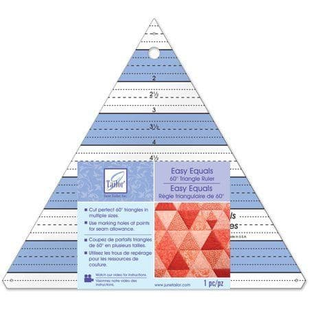 June Tailor Easy Equals 60 Degree Triangle Ruler