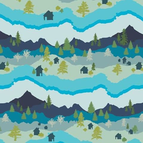 Mountain Scape Cotton - Catch & Release - Mister Domestic for AGF