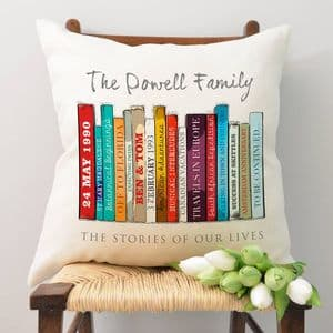 Personalised Book Family Edition Cushion