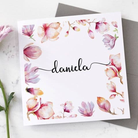 Personalised Floral Card