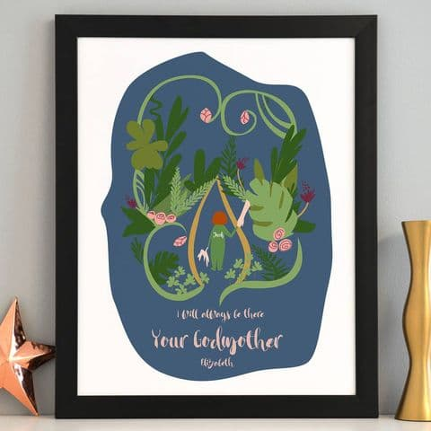 Personalised Godmother And Godchild Art