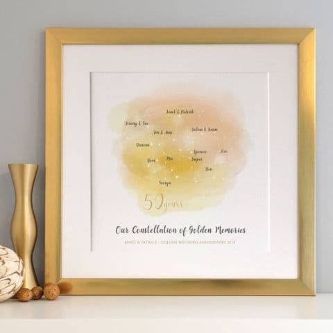 Personalised Golden Anniversary Family Constellation
