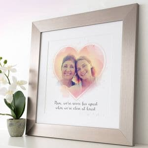 Personalised Heart Photo Art