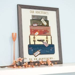 Personalised Holiday Suitcase Print
