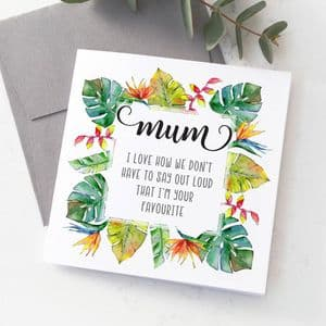 Personalised Mother's Day Favourite Child Floral Card