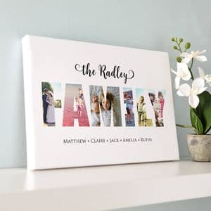 Personalised Photos Inside Family Word Art