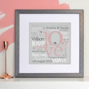 Personalised Wedding or Engagement LOVE Art