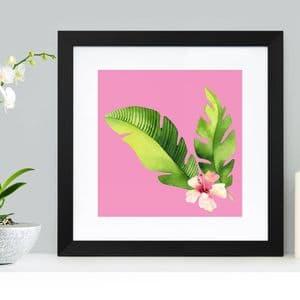 Pink Foliage Abstract Art