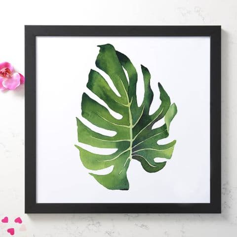 Watercolour Leaf Art