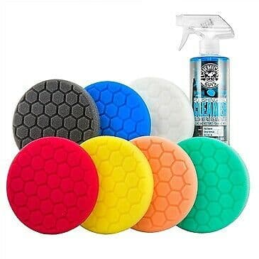 "Chemical Guys Hex-Logic 5.5"" Best of the Best Buffing Pads Kit 8 PIECE KIT"