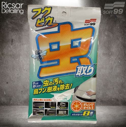 Soft99 Fukupika Bugs & Bird Poo Dropping Removal Wipes