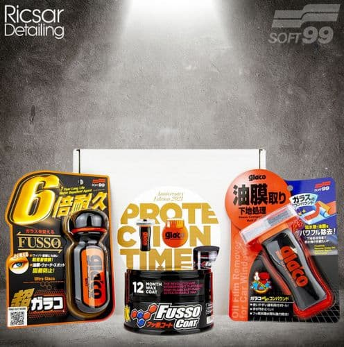 Soft99 Protection Time Kit: Fusso Dark, Ultra Glaco + FREE Glaco Compound