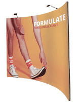Formulate Fabric Horizontal Curve Pop Up Mk 2 Double Sided from œ365.00!
