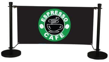 Quality Cafe Barrier in Black - starter set only œ159!