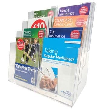 A4 Double Compartment Dispenser Freestanding or Wall mounted