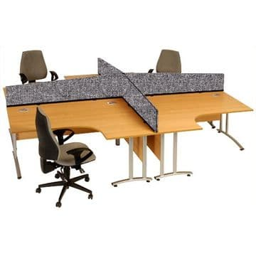 Desk Screens - Straight and Angled - Woolmix Fabric