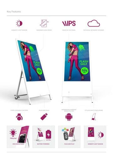 Digital Portable Poster - Battery Powered