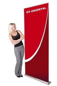 G5 Oriental 2 Banner including high quality PVC graphic panel and carry bat