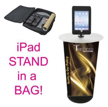 portable iPad Stand in a bag