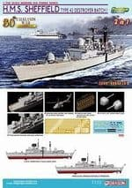 CYBER HOBBY 7133 1 700 H.M.S. Sheffield Type 42 Destroyer