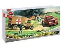 AIRFIX A03304 1:72 SCALE RAF Emergency Set with Ambulance + Crash Tender