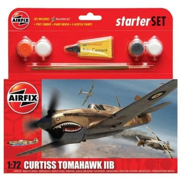 AIRFIX A55101 1:72 SCALE  Curtiss Tomahawk IIB Starter Set