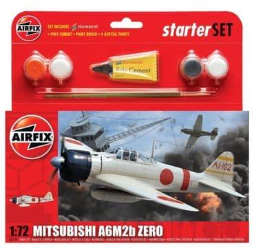 AIRFIX A55102 1:72 SCALE  Mitsubishi A6M2b Zero Starter Set