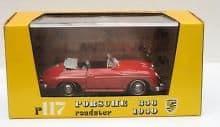 BRUMM R117   1:43 O SCALE 1950 PORSCHE 356 ROADSTER RED