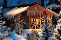 BUSCH BUS1085  HO SCALE   Snow Covered Winter Lodge
